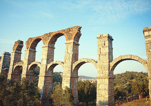 Near the town of Moria, one can visit the Roman Aqueduct that was built in the second century AD.