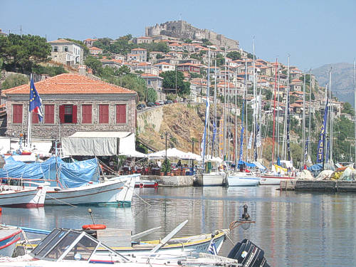 The picturesque port of Molivos, one of the most romantic spots on the planet.